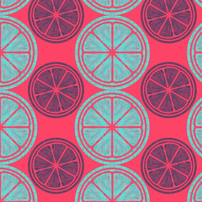 Pop Art Citrus Pattern