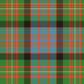 "MacDonell of Glengarry red tartan, 6"" ancient bright"