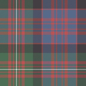 "MacDonell of Glengarry red tartan, 8"" faded"
