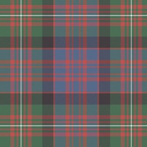 "MacDonell of Glengarry red tartan, 6"" faded"