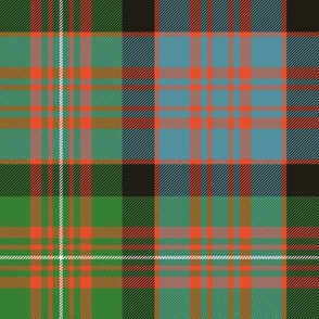 "MacDonell of Glengarry red tartan, 8"" ancient bright"
