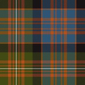 """MacDonell of Glengarry red tartan, 8"""" ancient dark"""
