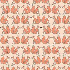 foxes nose to tail blush pink medium scale