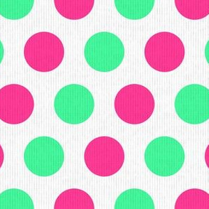 Teal & Pink Dots (Small Print Size)
