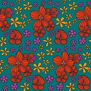 70's floral small