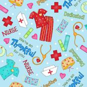 Nurse Thankful Light Blue Medium