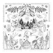 PNW Joy Embroidery Throw Pillow