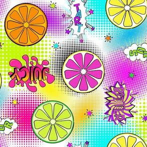 Pop Art Citrus Halftones