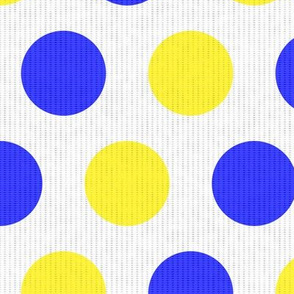 Blue & Yellow Dots