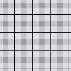 Grey Plaid Med