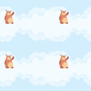 Cute Bears & Clouds (Small Print)