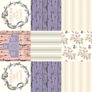 Cowgirl cheater quilt purple coral
