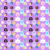 Steven Universe Fabric- purple