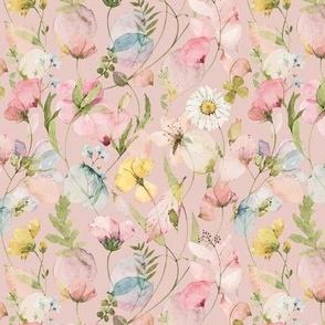Botanical Spring Flowers -047-Pink