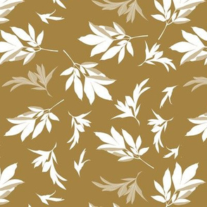 leaves toss - white-brown