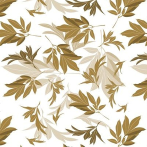 leaves toss - brown-white