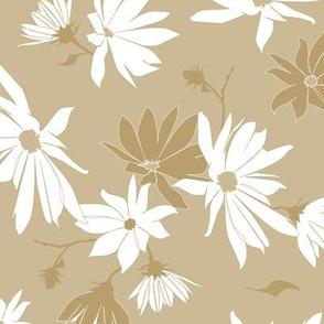 jerusalem artichoke flowers - white-beige
