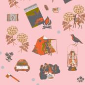 Vintage Camping pink