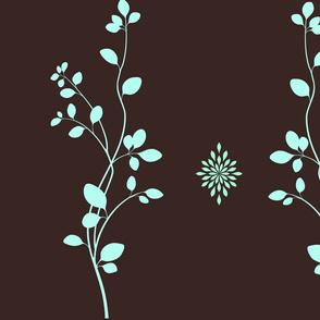 brown pale blue vines