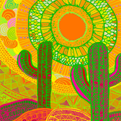 Southwest Desert Del Sol & Saguaro