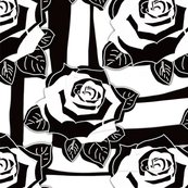 Painterly Black and White Rose