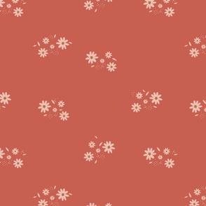 Retro-Flowers Red
