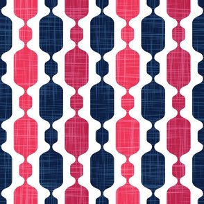 Normal scale // Meowsome 70s columns (coordenate) // beet pink and navy blue with linen texture