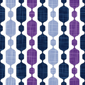 Normal scale // Meowsome 70s columns (coordenate) // amethyst purple blue and navy blue with linen texture