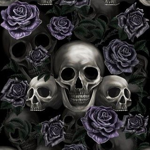 Skulls and metalic roses
