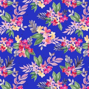 Polly Cobalt Blue Ground (Smaller Scale)