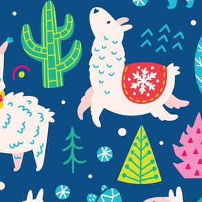 Christmas llamas large