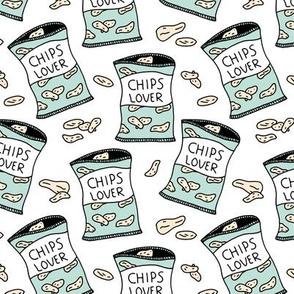 Little bags of crisps chips lovers pop art snack illustration food design