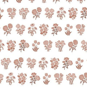 wildflower chart - wildflowers, floral wallpaper, woodcut wallpaper, linocut wallpaper, wildflower paper -  sepia