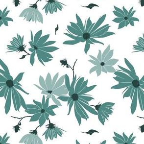 jerusalem artichoke flowers teal