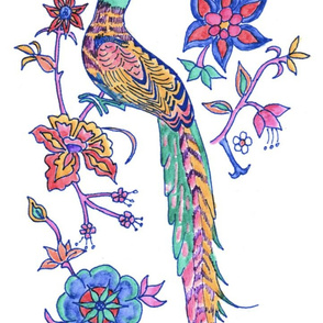 Sarah's Free Spirit: Long Tailed bird