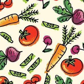 Retro Fruits & Veggies