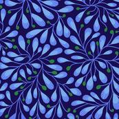 Indigo Blue Leaves