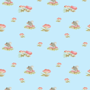 Squirell Mushroom Sky