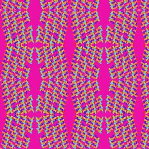 Rainbow Basket on Hot Pink by DulciArt, LLC.
