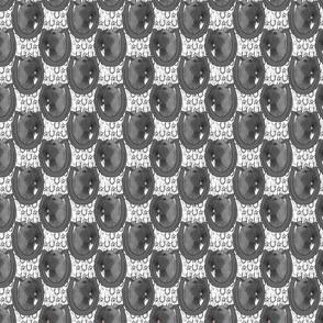 Small Kerry Blue Terrier horseshoe portraits