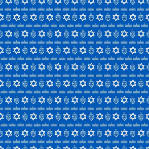 Tiny Hanukkah coordinate - horizontal stripe
