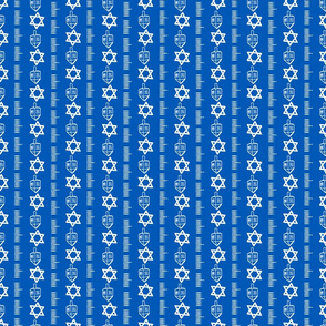 Tiny Hanukkah coordinate - vertical stripe