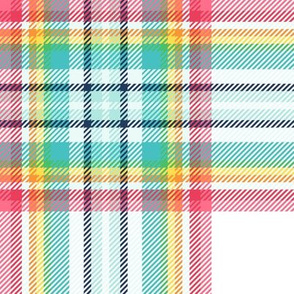 "LG rainbow tartan style 1 with 8"" repeat - goes with it's my birthday"