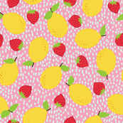 Lemons with Strawberries Pop Print