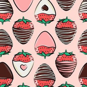 (large scale) chocolate covered strawberries - pink C19BS