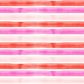 (small scale) valentines watercolor stripes C19BS