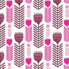 Fun Funky Flowers in Pinks Floral Design