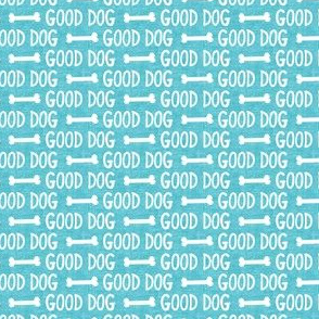 (small scale) good dog - blue - dog bone - LAD19BS