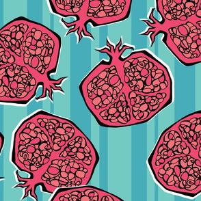 Pomegranate Pop Stripes