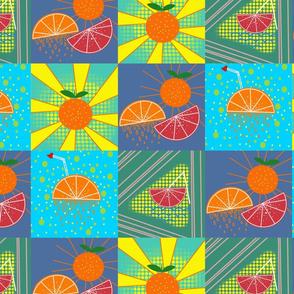 pop art fruit final tile